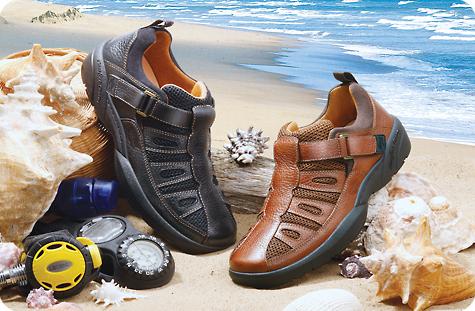 "beachcomber  diabetic shoe  velcro  men""s shoe  casual"